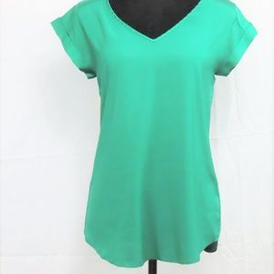 Green Petite Satin Tunic By Express